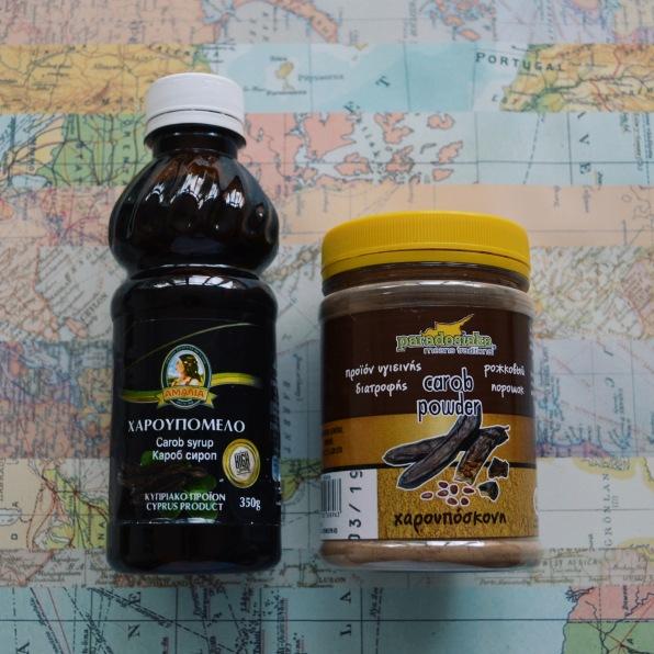 Carob syrup and powder