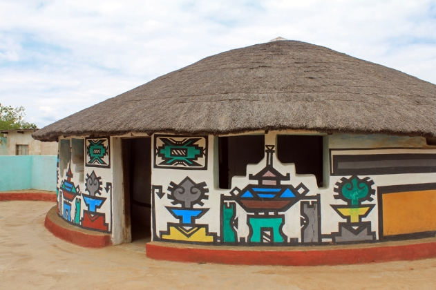 Traditional Ndebele houses